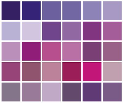 Different Types Of Purple in my palette that i would consider to be purples
