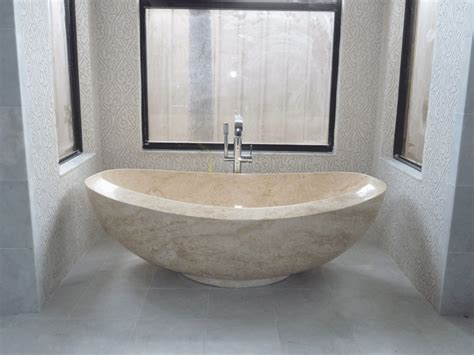 beige bathtub galala beige cream marble polished tub double slipper