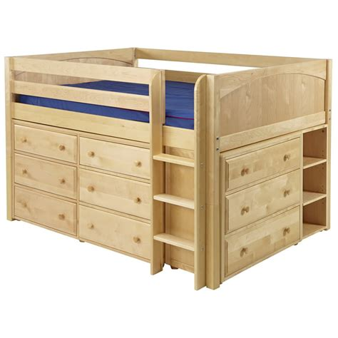 full beds with storage large 3 full size storage bed in natural by maxtrix 601