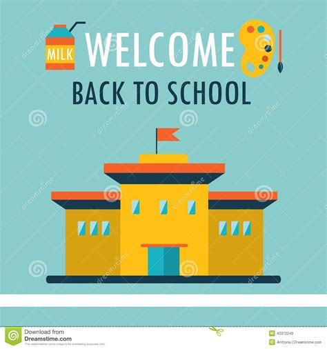 back to school design template welcome back to school background design template in flat
