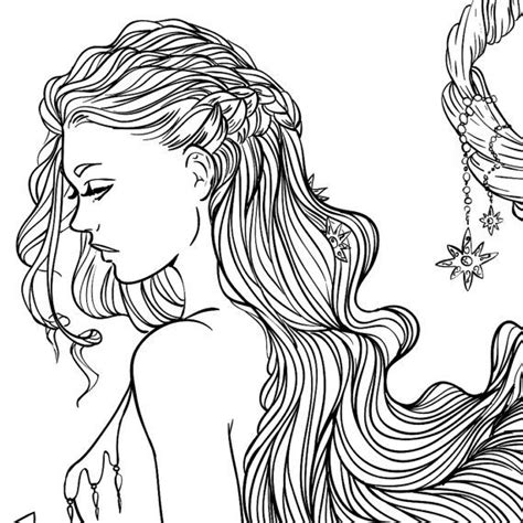 coloring pages of people s hair 17 best images about colouring pages on pinterest