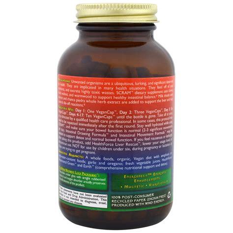 Scram Detox by Healthforce Nutritionals Scram 150 Vegancaps Iherb