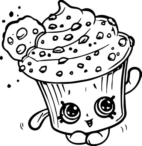 coloring pages of cupcakes and cookies creamy cookie cupcake coloring page wecoloringpage