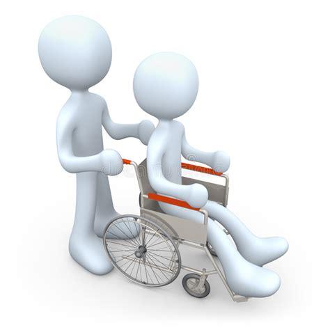 sulla sedia persona sulla sedia a rotelle illustrazione di stock