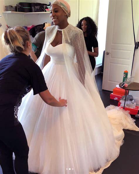 Wedding Dress Photos by Serena Williams Shares Bts Photos From Wedding Dress