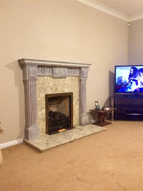 How To Paint Fireplace Surround by Before And After Fireplace Surround Painting