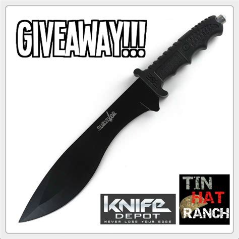 Hunting Contest Giveaways - knife depot tactical survival hunting knife giveaway 187 tinhatranch