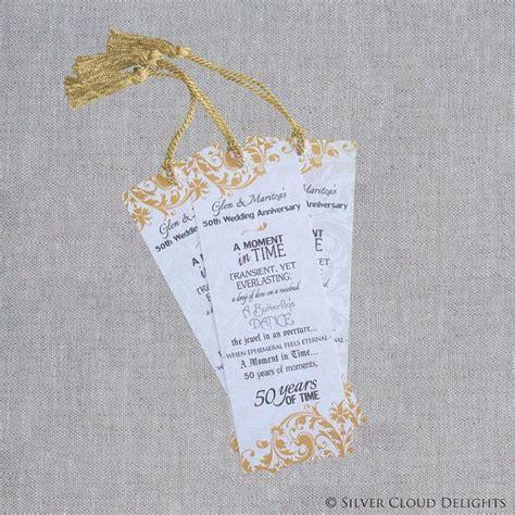 50th Anniversary Bookmarks   Wedding Anniversary Bookmark