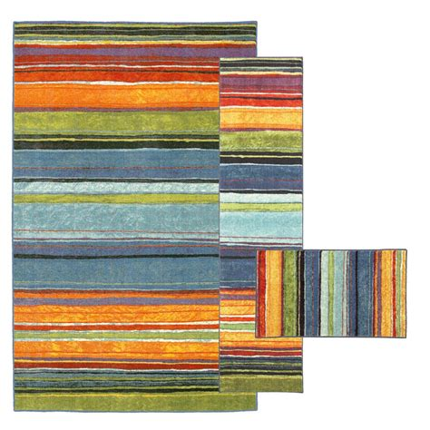 mohawk rainbow rug mohawk home rainbow multi 7 ft 6 in x 10 ft 3 rug set 335465 the home depot