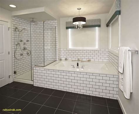 Black And White Tile In Bathroom by New Bathroom White Tile Black Grout Home Design Ideas