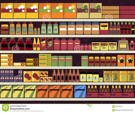 Grocery Store Background Stock Vector   Image: 59234073