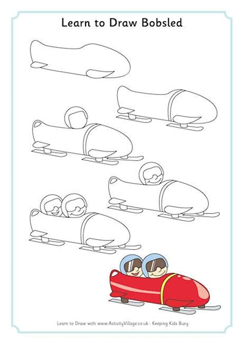 6 winter olympic sports skills you can incorporate into your learn to draw bobsled repinned by totetude com how to