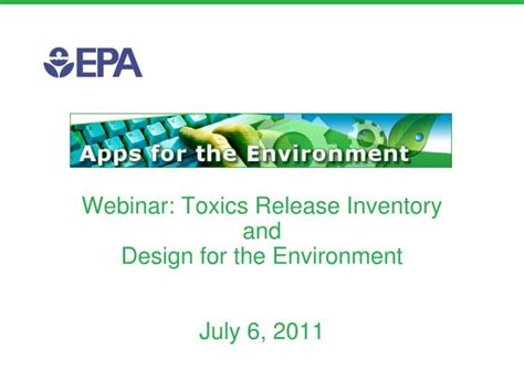design for environment ppt ppt webinar toxics release inventory and design for the