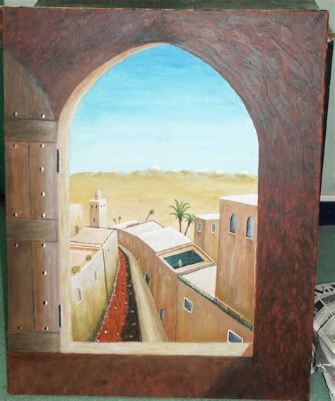Peinture Trompe L Oeil peinture trompe l oeil vue sur l atlas