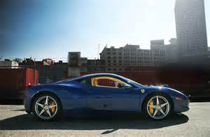 Blue 458 Italia And Concept Cars 458 Italia