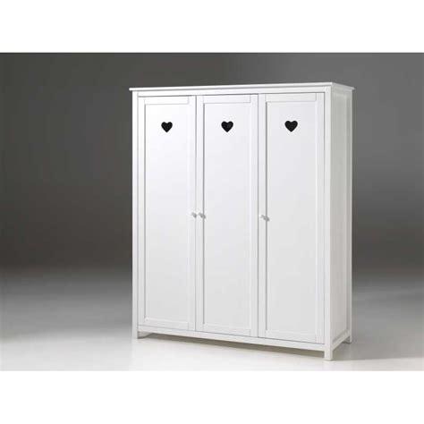 armoire pour chambre enfant armoire pour chambre enfant fille 3 portes blanc laqu 233