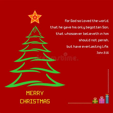 christmas holy bible verse john  stock vector illustration  colorful message