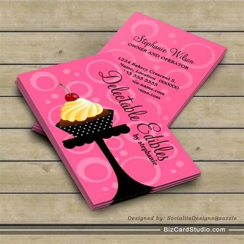 Cupcake Business Cards Templates by Cupcake Bakery Business Cards Bakery Business Cards