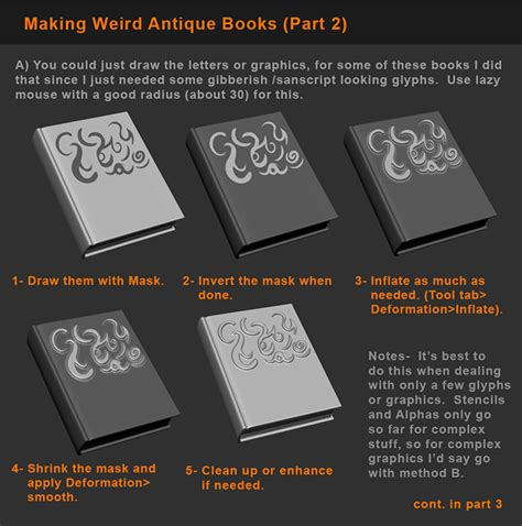 zbrush detailing tutorial zbrush tutorial books and detailing props p2 by hecm on