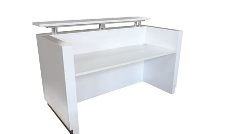 White Reception Desk Hugo Reception Desk Gloss White Finish