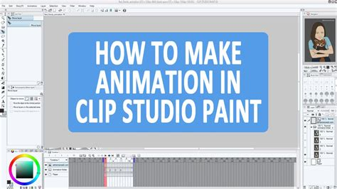 how to use studio 4 how to make simple animation in clip studio paint ex