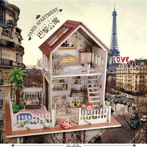 buy doll houses aliexpress com buy diy 1 12 3d wooden doll house miniatura furniture wood dolls