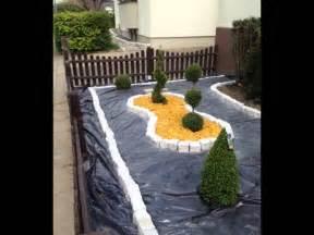garten gestalten mit kies vorgarten mit kies anlegen kunstrasen garten