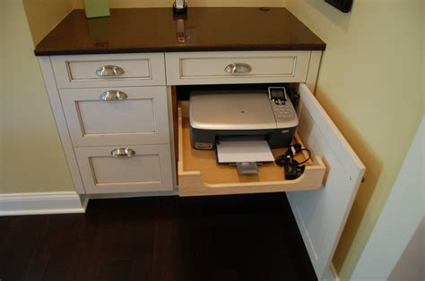 hidden printer cabinet 17 best ideas about kitchen desk areas on pinterest