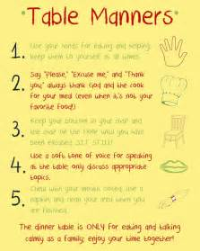 Table Manners And Dining Etiquette Table Manners Reminders Sometimes Big Need Reminders Kiddos