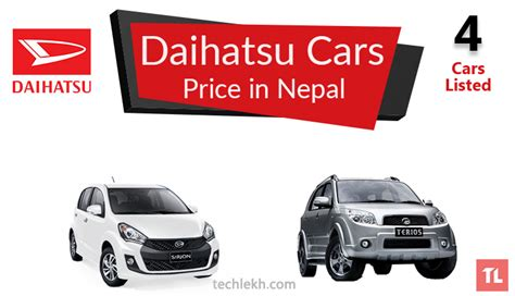 daihatsu price list daihatsu car price in nepal 2017 daihatsu cars in nepal