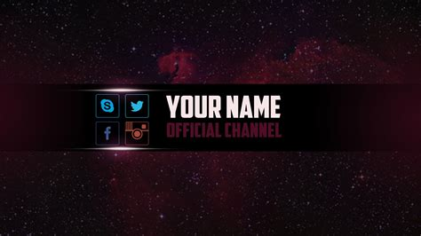 best photos of youtube banner template psd cool youtube