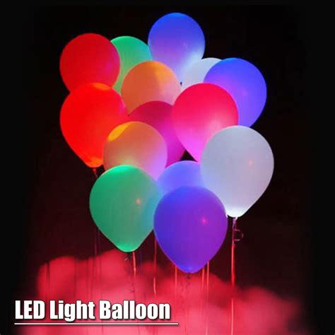 helium balloons with led lights 15pcs led balloon light ball 12 inches latex multicolor