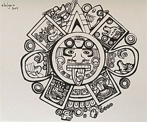 calendario azteca tattoo design calendario azteca tatoo maories ideas
