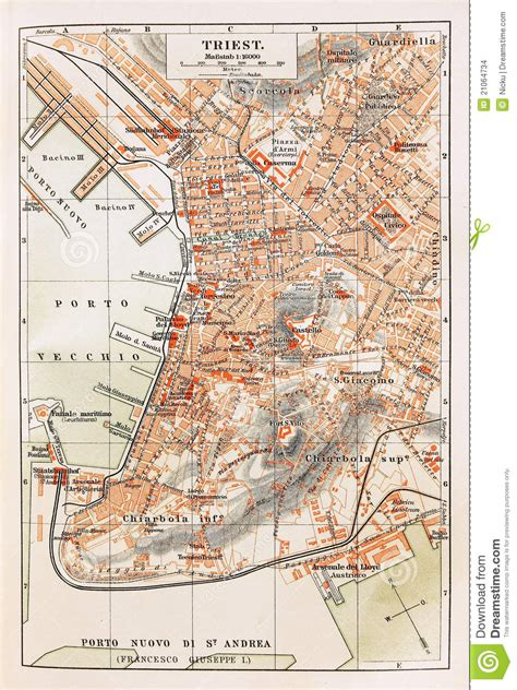 triest map map of trieste stock photo image of abstract border
