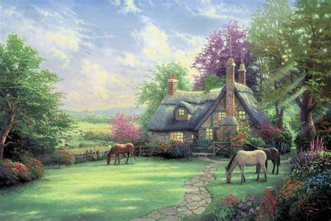 cottage kinkade cottages