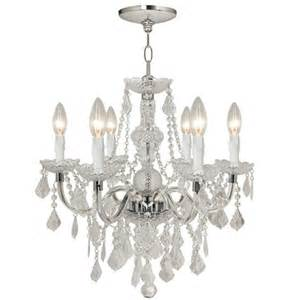 Hampton Bay Chandelier 5 Light Maria Theresa 6 Light Chrome Chandelier