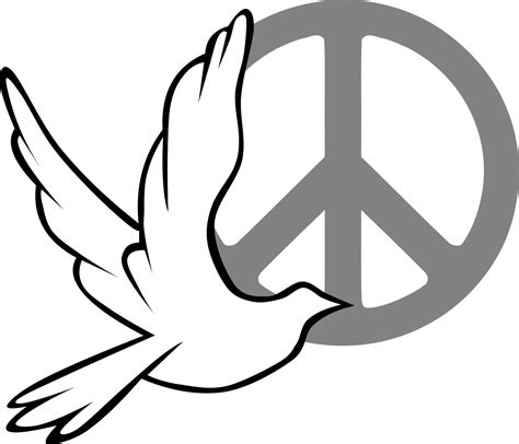 187 peace dove and sign