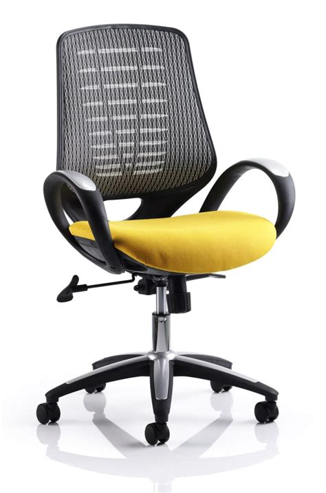 yellow office chair uk sprint mesh office chair in yellow