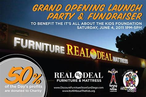 Real Deal Furniture by Real Deal Furniture Grand Opening Benefiting It S