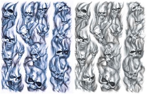 smoke sleeve tattoo designs skulls in smoke sleeve idea s
