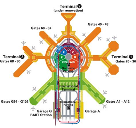 san francisco airport map terminal cow moo moo june 2007