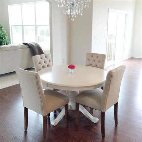white dining room table and chairs best 20 tufted dining chairs ideas on dinning