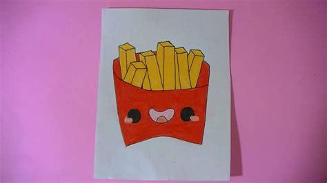 imagenes kawaii de comida para dibujar como dibujar pintar papas fritas kawaii semana comida
