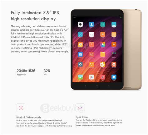 Tablet Xiaomi 8 Inch xiaomi mi pad 3 64gb tablet pc gold