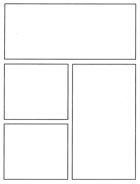 graphic novel template printable comic template