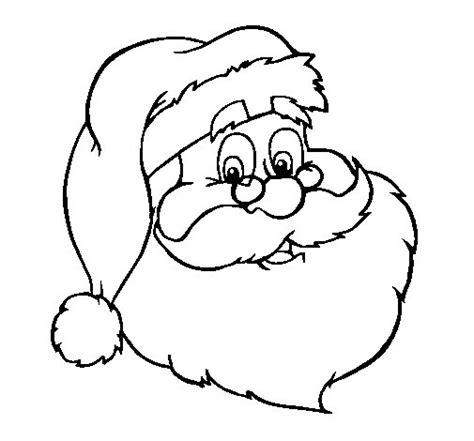 imagenes navideñas para colorear de papa noel dibujo de cara de pap 225 noel para colorear dibujos net