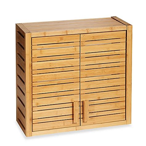 bamboo wall cabinet bed bath beyond