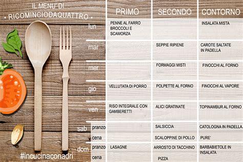 diario alimentare esempio diario alimentare e menu settimanale 2 02 ricomincio