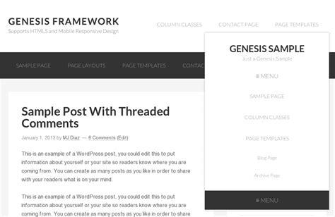genesis responsive mobile responsive header menu for genesis sle theme