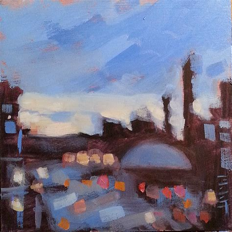 painting impressionism modern large original heidi malott original paintings chicago lights